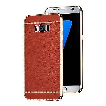 Samsung S8 Plus case rött läder - CoolSkinn läder