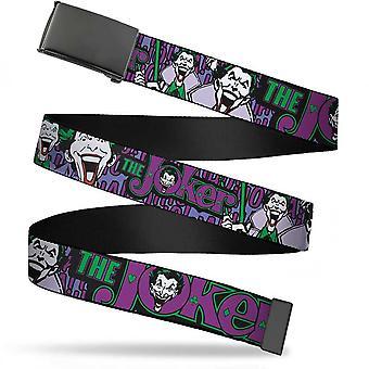 Joker Classic logo och skratt vuxen webb bälte