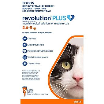 Revolution Plus Cat MED 6pk 2.5-5kg