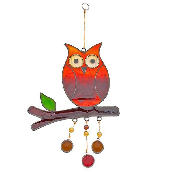 Owl On Branch Suncatcher