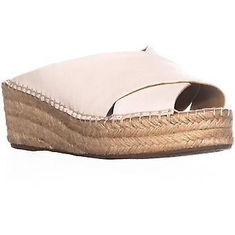 Franco Sarto Womens L-Polina Fabric Peep Toe Casual Platform Sandals