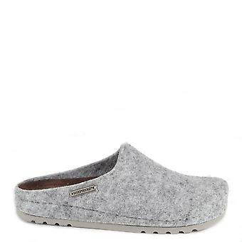 Shepherd of Sweden Isabel Grey Wool Slipper