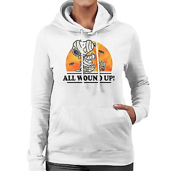Peanuts All Wound Up Halloween Mummies Women's Hooded Sweatshirt