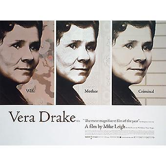 Vera Drake (kaksipuolinen) alkuperäinen elokuva juliste
