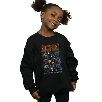 AC/DC Mädchen blow Up Ihr Video Sweatshirt