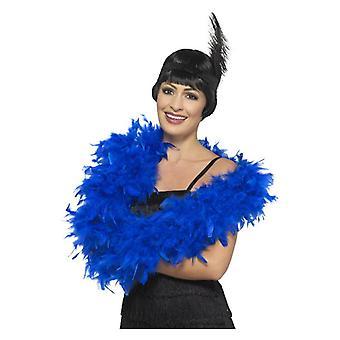 Womens Deluxe Boa bleu déguisements accessoires
