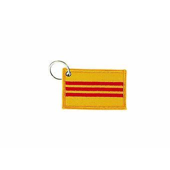 Porte Cle Cles Clef Brode Patch Ecusson Badge Drapeau Vietnam Du Sud