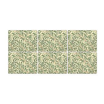Pimpernel Willow Boughs Green Placemats, Set of 6