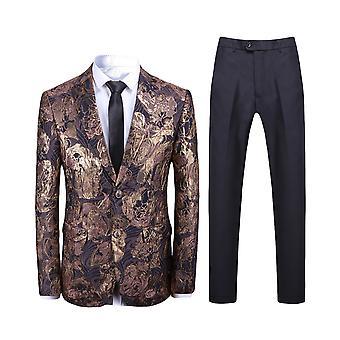 Alle Themen Men's 2-teilige Anzüge Jacquard Slim Fit Hochzeit Blazer & Hose