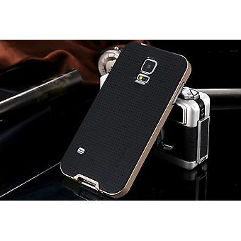 Galaxy S5 Neo Hybrid shell protection case gold