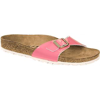 Birkenstock Madrid BF Sandal patent 1008494 2 tone Cream Coral smal