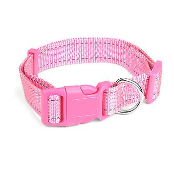 Large Pink Adjustable Reflective Collar