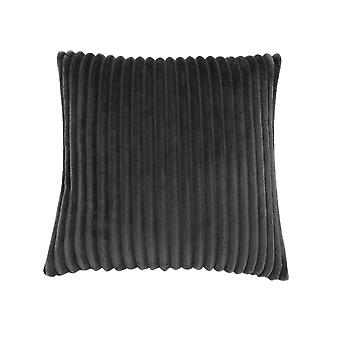 """18"""" x 18"""" Black, Ultra Soft Ribbed Style - Pillow"""