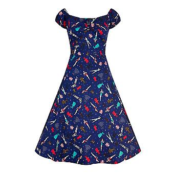 Collectif Vintage Women's Flared Dolores Paper Pin-Up Doll Dress