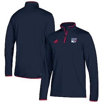 Adidas Nhl New York Rangers Climalite Quarter-zip Pullover Jacket