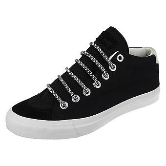 Mens Pony Canvas Lace Up Shoes New School 121T66