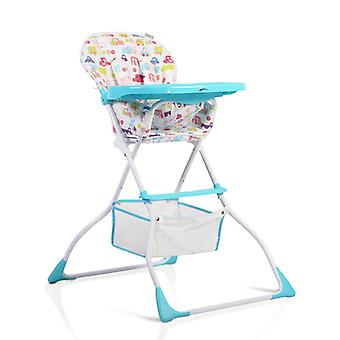 Moni high chair Moove foldable, backrest, table adjustable, storage basket, strap