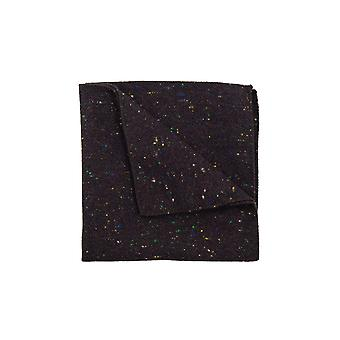 Dobell Mens Burgundy Flecked Donegal Tweed Handkerchief