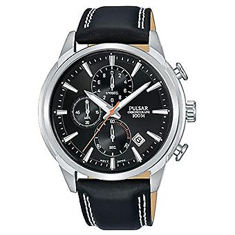Pulsar men's chronograph Quartz Watch with leather band PM3119X1