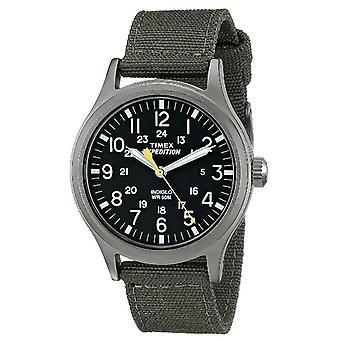 Timex kvarts Watch med dial analog visning og Nylon stropp-grønn (T49961)