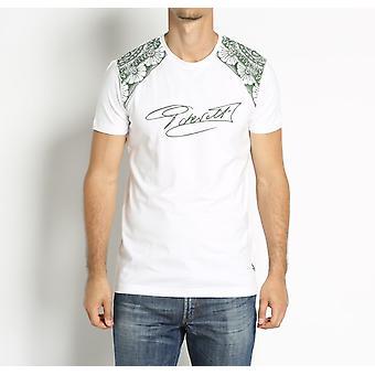 White Short Sleeve T-shirt Cesare Paciotti Beachwear Men