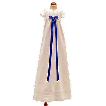 瑞典洗礼礼服格蕾丝,短袖与绿松石罗塞特,Tr.v.k