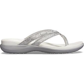 Crocs Capri Strappy Flip  Silver/Silver