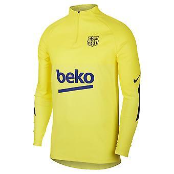 2019-2020 برشلونة نايكي سترايك Vaporknit حفر الأعلى (أصفر)
