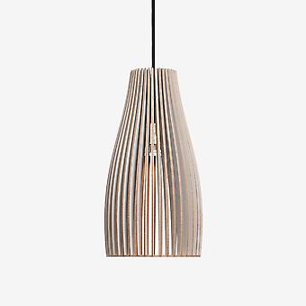 Iumi Ena Cone Shaped Plywood Pendant Lamp - Grey