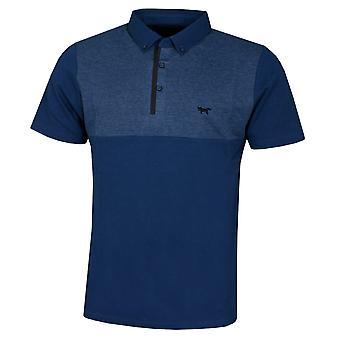 Wolsey Mens Houndstooth Colour Block Lightweight Golf Polo Shirt