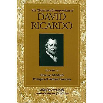 Travaux et correspondance de David Ricardo: Notes sur le principe de Malthus of Political Economy, c. 2