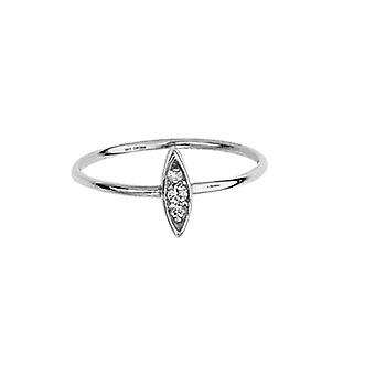14k White Gold 0.05 Dwt Diamond Drop Marque Diamond Cluster Ring Jewelry Gifts for Women - Ring Size: 6 to 8