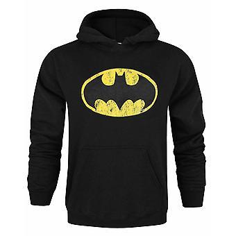 Batman Distressed Logo Black Men's Sudadera con capucha