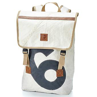 360 degree canvas bag backpack Landgang white with number grey
