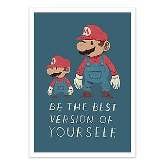 Art-Poster - Be the best of yourself - Louis Roskosch 50 x 70 cm