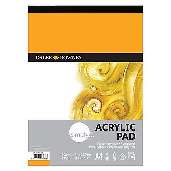 Daler Rowney Simply Acrylic Pad A4