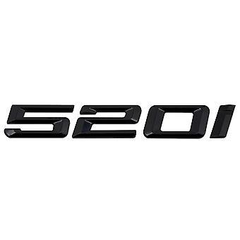 Kiilto musta BMW 520i auton merkki tunnus mallinumerot kirjaimet 5-sarjan E93 E60 E61 F10 F11 F07 F18 G30 G31 G38