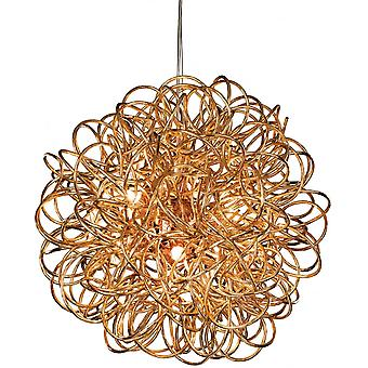 Firstlight Spiral Industrial Copper Messy Wire Ceiling Pendant Light