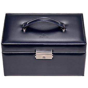 Sacher gioielli gioielli caso casella FLOR età in pelle blu blocco cassetti