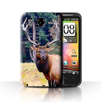 STUFF4 Case/Cover for HTC Desire HD/G10/Elk/Bull/North America Animals