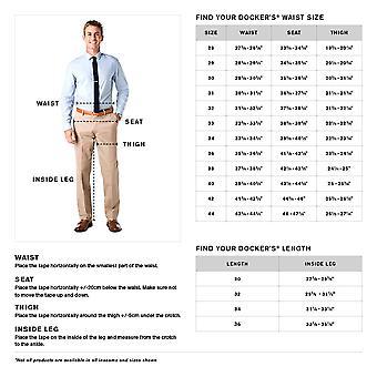 Dockers Men's Comfort Stretch Khaki Classic-Fit Pleated Pant, Black Metal (St...