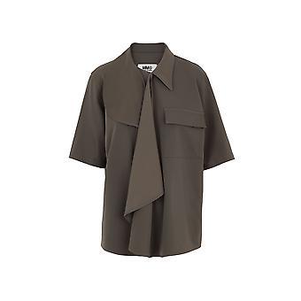 Mm6 Maison Margiela S52dl0128s52531728 Blouse de polyester vert