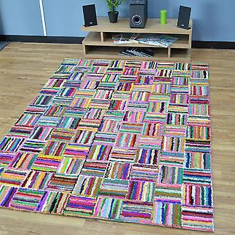Katoen Chindi Sunshine veelkleurige tapijten 05