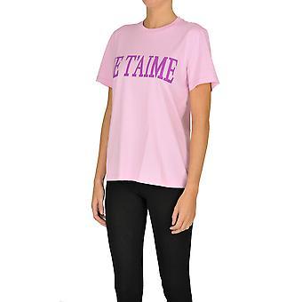 Alberta Ferretti Ezgl095029 Dames's Pink Cotton T-shirt