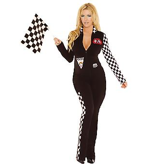 Elegant Moments Plus Size Race Car Driver Nascar Halloween Costume