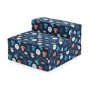 Bereit Steady Bed Kinder Kinder Falten Aussleepover Z Bett Sofa | Kleinkind einzelne Klappstuhl | Ideal für Spielzimmer Schlafzimmer Wohnzimmer | Leicht & bequem (Champion)