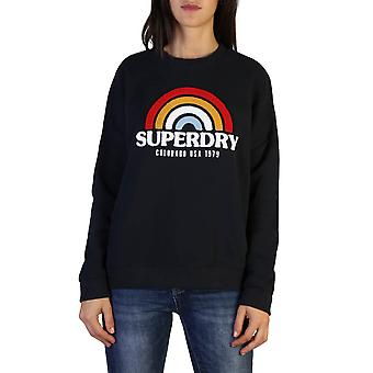 Superdry Original Frauen Herbst/Winter Sweatshirt - blaue Farbe 37771