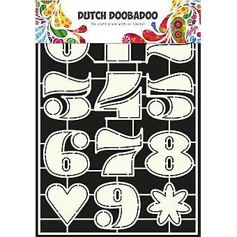Hollandsk Doobadoo hollandske Stencil Kunst Numre 2 A4 470.455.006