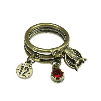 Hunger Games Catching Fire Mockingjay Charm Ring