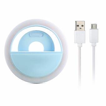 Universal Selfie lamp/Ring with different light modes-blue